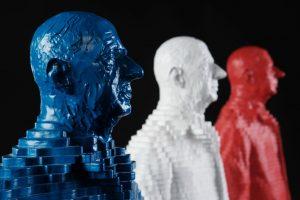 Michel Audiard - Statues Charles de Gaulle Bleu Blanc Rouge